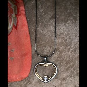 Brighton two tone heart necklace FREE